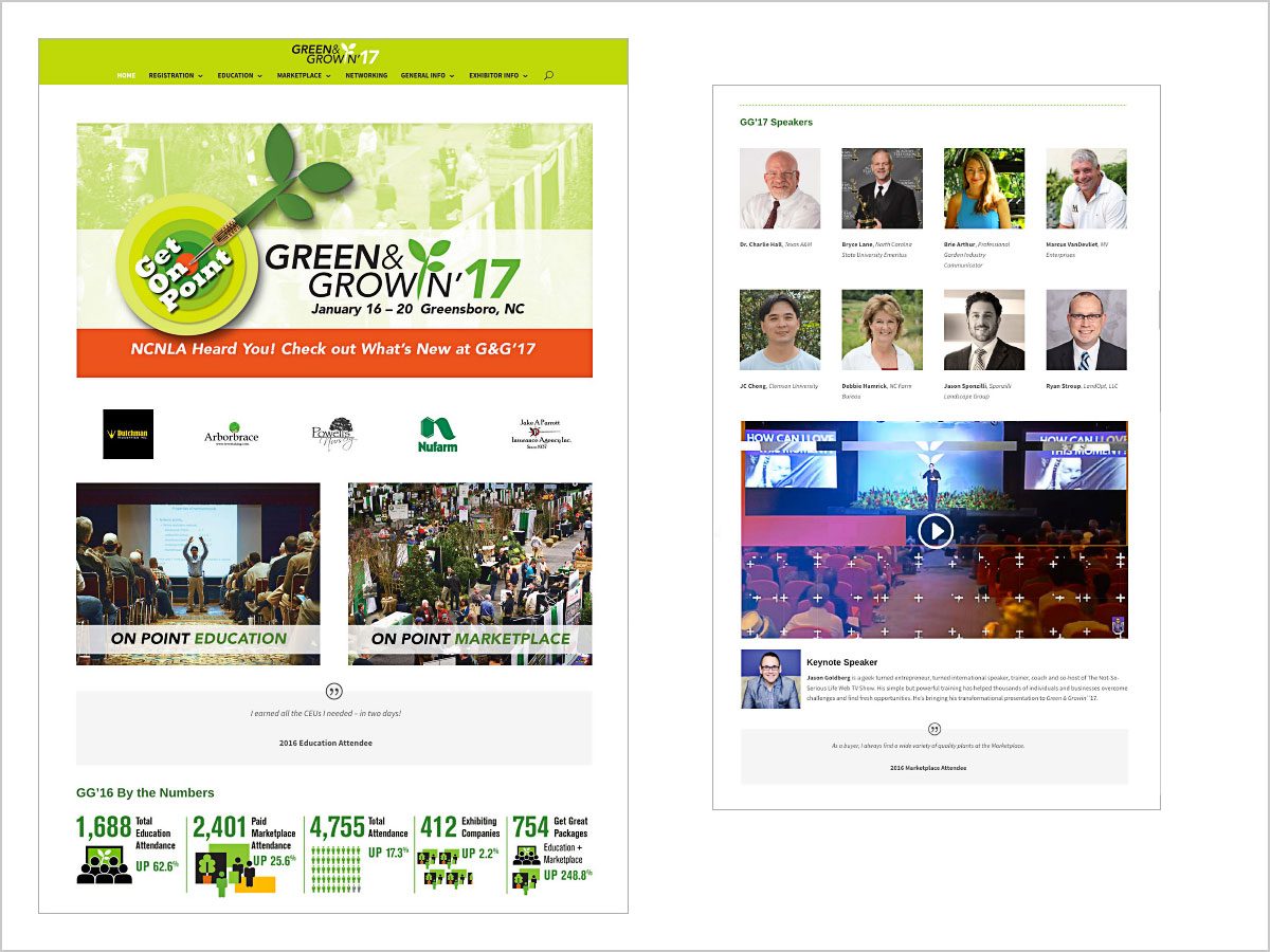 greengrowin wedsite design